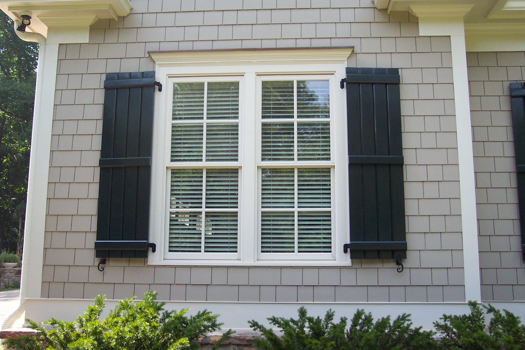 Board and batten shutters diy or buy for Exterior home windows