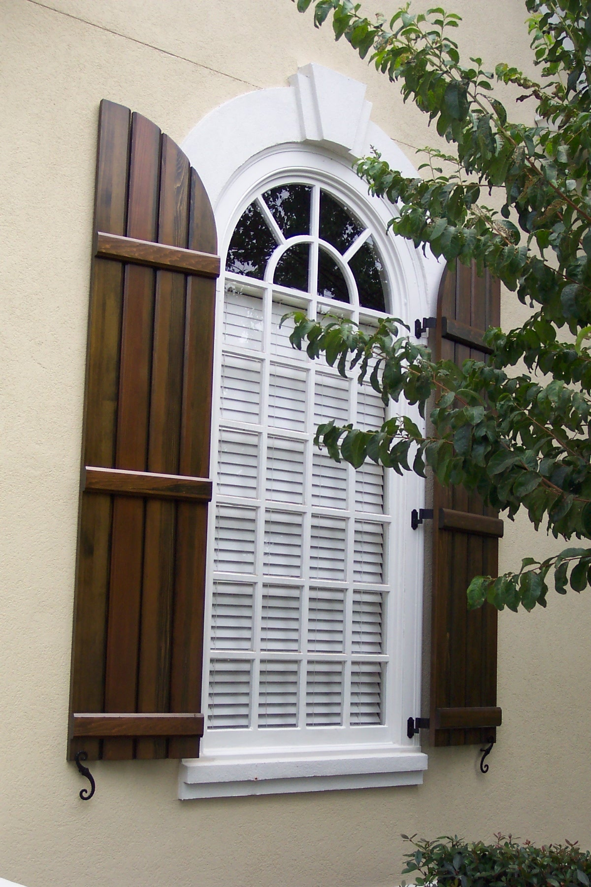 Wooden Shutters Exterior French Country
